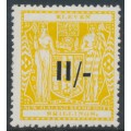 NEW ZEALAND - 1940 11/- on 11/- yellow Arms Fiscal, single NZ star watermark, MH – SG # F189