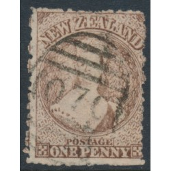 NEW ZEALAND - 1873 1d brown QV Chalon, perf. 12½, star watermark, used – SG # 132a