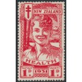 NEW ZEALAND - 1931 1d+1d scarlet Smiling Boy Health Stamp, MH – SG # 546