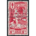NEW ZEALAND - 1931 1d+1d scarlet Smiling Boy Health Stamp, used – SG # 546