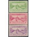 NEW ZEALAND - 1925 Dunedin Exhibition set of 3, MH – SG # 463-465