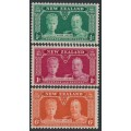 NEW ZEALAND - 1935 ½d to 6d KGV Silver Jubilee set of 3, MNH – SG # 573-575