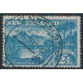 NEW ZEALAND - 1898 2½d blue Lake Wakitipu, no watermark, perf. 15:15, used – SG # 249