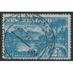NEW ZEALAND - 1898 2½d blue Lake Wakitipu, no watermark, perf. 15:15, used – SG # 249