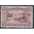 NEW ZEALAND - 1898 9d purple Pink Terrace, no watermark, perf. 15:15, MNG – SG # 256