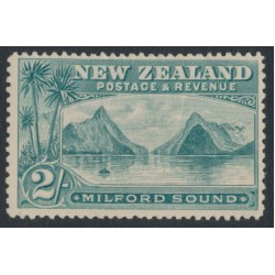 NEW ZEALAND - 1898 2/- grey-green Milford Sound, no watermark, perf. 14:14, MH – SG # 258