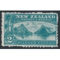 NEW ZEALAND - 1903 2/- green Milford Sound, no watermark, perf. 11:11, used – SG # 316