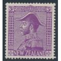 NEW ZEALAND - 1926 3/- mauve King George V (Admiral), mint hinged – SG # 467