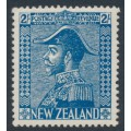 NEW ZEALAND - 1927 2/- light blue King George V (Admiral), mint hinged – SG # 469
