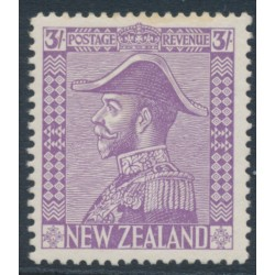 NEW ZEALAND - 1927 3/- pale mauve King George V (Admiral), mint hinged – SG # 470