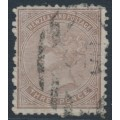 NEW ZEALAND - 1874 3d brown QV (First Sideface), NZ star watermark, perf. 12½, white paper, used – SG # 154
