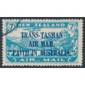 NEW ZEALAND - 1934 7d light blue Airmail overprinted 'Faith in Australia', used – SG # 554