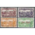 NEW ZEALAND - 1931 3d to 7d Airmail set of 3 plus 5d overprint, used – SG # 548-551