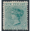 NEW ZEALAND - 1888 4d green QV (2nd Sideface), NZ star watermark (7mm), perf. 12:11½, MH – SG # 199