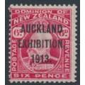 NEW ZEALAND - 1913 6d carmine KEVII, Auckland Exhibition overprint, MH – SG # 415