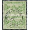 NEW ZEALAND - 1925 ½d yellow-green/green Dunedin Exhibition, pair, used – SG # 463