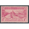 NEW ZEALAND - 1925 1d carmine on rose Dunedin Exhibition, MH – SG # 464
