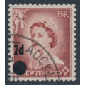 NEW ZEALAND - 1958 2d on 1½d brown Queen Elizabeth II with stars, used – SG # 763b