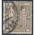 NEW ZEALAND - 1949 30/- brown Fiscal, inverted multiple NZ star watermark, used – SG # F205w