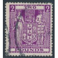NEW ZEALAND - 1946 £2 bright purple Fiscal, multiple NZ star watermark, used – SG # F206