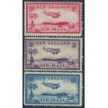 NEW ZEALAND - 1935 1d to 6d Airmail set of 3, MNH – SG # 570-572