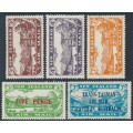 NEW ZEALAND - 1931-1934 3d to 7d Airmail set of 3 plus two overprints, MH – SG # 548-551+554