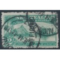 NEW ZEALAND - 1907 2/- blue-green Milford Sound, o/p OFFICIAL, used – SG # O66