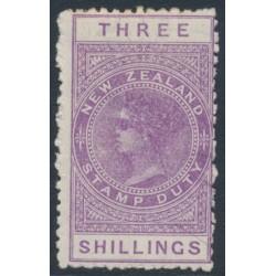 NEW ZEALAND - 1895 3/- mauve QV Stamp Duty, perf. 11, NZ star watermark (7mm), MH – SG # F58