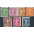 NEW ZEALAND - 1909 ½d to 8d KEVII Definitives short set of 7, MH – SG # 387-393