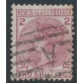 NEW ZEALAND - 1878 2/- deep rose QV (1st Sideface), NZ star watermark, perf. 12:11½, used – SG # 185