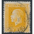 NEW ZEALAND - 1915 2d yellow KGV definitive, perf. 14:14½, used – SG # 418a