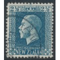 NEW ZEALAND - 1916 2½d blue KGV definitive, perf. 14:14½, used – SG # 419a