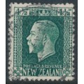 NEW ZEALAND - 1915 4½d deep green KGV definitive, perf. 14:13½, used – SG # 423