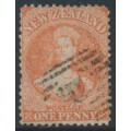 NEW ZEALAND - 1871 1d orange QV Chalon, perf. 12½:12½, large star watermark, used – SG # 112