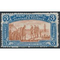 NEW ZEALAND - 1906 3d brown/blue NZ Exhibition, mint hinged – SG # 372