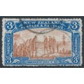 NEW ZEALAND - 1906 3d brown/blue NZ Exhibition, used – SG # 372