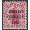 NEW ZEALAND - 1913 1d carmine Universal, Auckland Exhibition overprint, MH – SG # 413