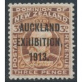 NEW ZEALAND - 1913 3d chestnut KEVII, Auckland Exhibition overprint, MH – SG # 414