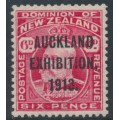 NEW ZEALAND - 1913 6d carmine KEVII, Auckland Exhibition overprint, MH – SG # 415