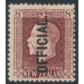 NEW ZEALAND - 1922 8d red-brown KGV, perf. 14:13½, o/p OFFICIAL, MH – SG # O103