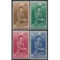 NEW ZEALAND - 1954-1957 2/6 to 10/- QEII on Horseback set of 4, MH – SG # 733d-736