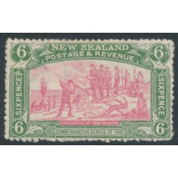 NEW ZEALAND - 1906 6d pink/olive-green NZ Exhibition, MH – SG # 373