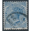 NEW ZEALAND - 1888 8d blue QV (2nd Sideface), NZ star watermark (7mm), perf. 12:11½, used – SG # 202