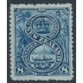 NEW ZEALAND - 1906 8d blue Maori War Canoe, perf. 14:14, single watermark, MH – SG # 325