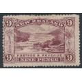 NEW ZEALAND - 1906 9d purple Pink Terrace, perf. 14:14, single watermark, MH – SG # 326