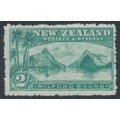 NEW ZEALAND - 1906 2/- blue-green Milford Sound, perf. 14:14, single watermark, MH – SG # 328a