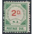 NEW ZEALAND - 1899 2d vermilion/green Postage Due, MH – SG # D11
