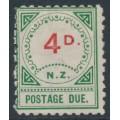 NEW ZEALAND - 1899 4d vermilion/green Postage Due, MH – SG # D16