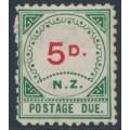 NEW ZEALAND - 1899 5d vermilion/green Postage Due, MH – SG # D6