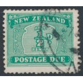 NEW ZEALAND - 1939 ½d turquoise-green Postage Due, single watermark, used – SG # D41